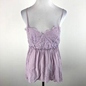 xhilaration M purple lace spaghetti strap lace top
